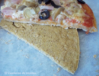 Pizza sobre fainá (Pizza a caballo)