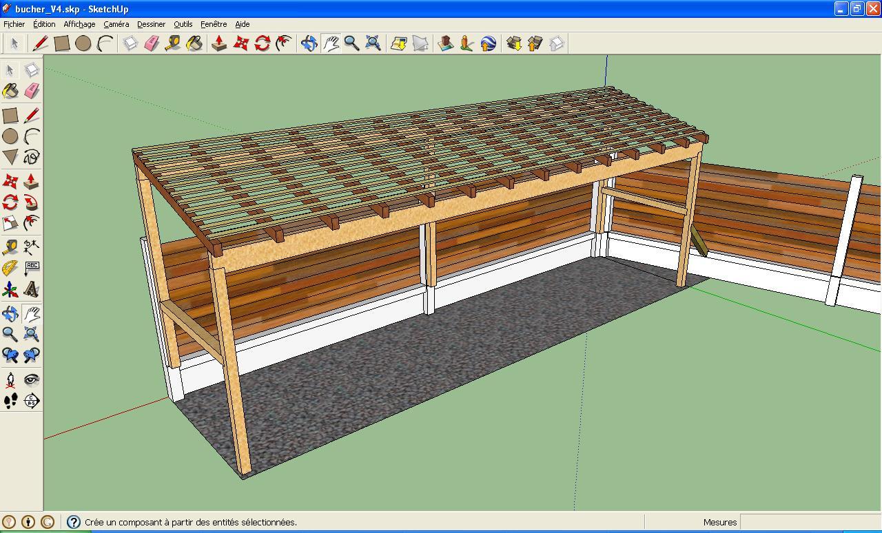 gigashow r alisation d 39 un abris en bois pour b ches. Black Bedroom Furniture Sets. Home Design Ideas