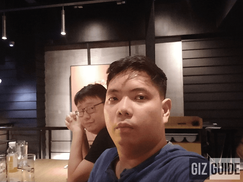 Indoor lowlight selfie