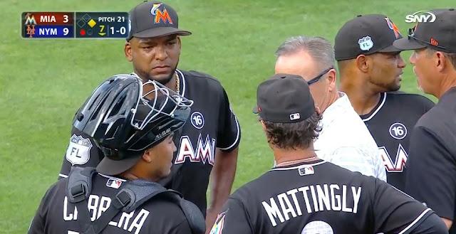 El pasado jueves el habanero abrió un partido contra los Mets pero tuvo que abandonar la lomita en el segundo inning.