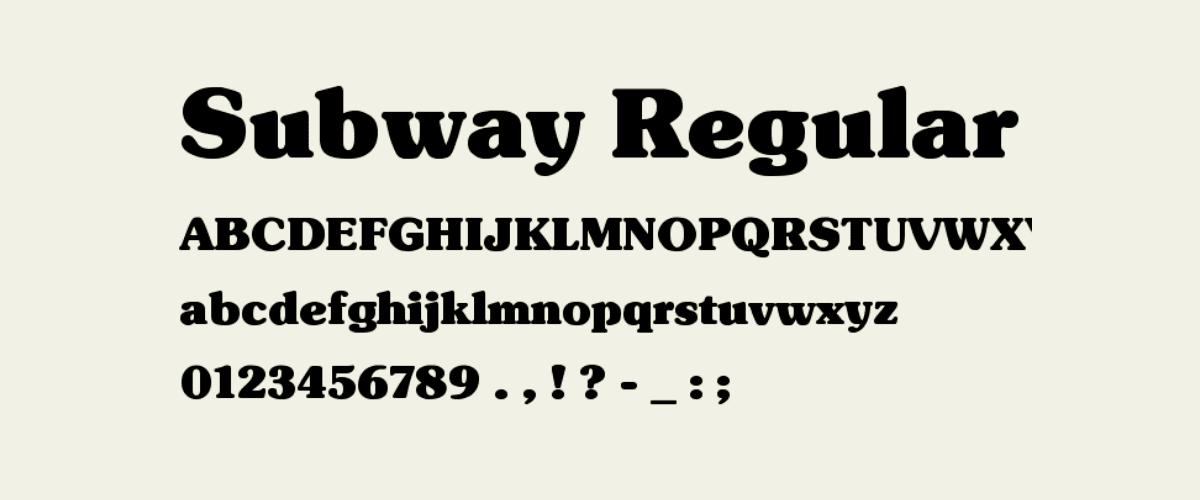 Kumpulan Font Terbaik Untuk Desain Sticker - Subway