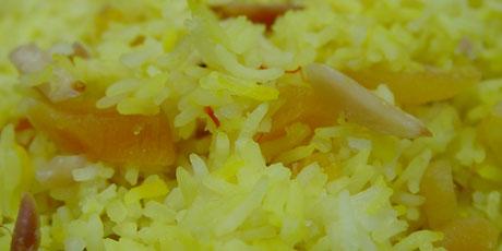 Sprinkled sea salt and freshly ground black pepper Saffron Almond Rice Recipe