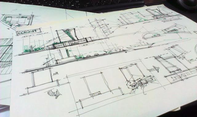 làm đồ án, bước sơ phác kiến trúc mặt bằng