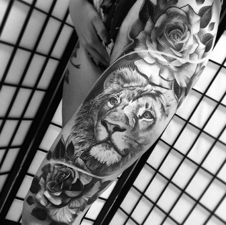 6fc4b60129b04 50+ Best Lion Tattoo Collection | Gallery