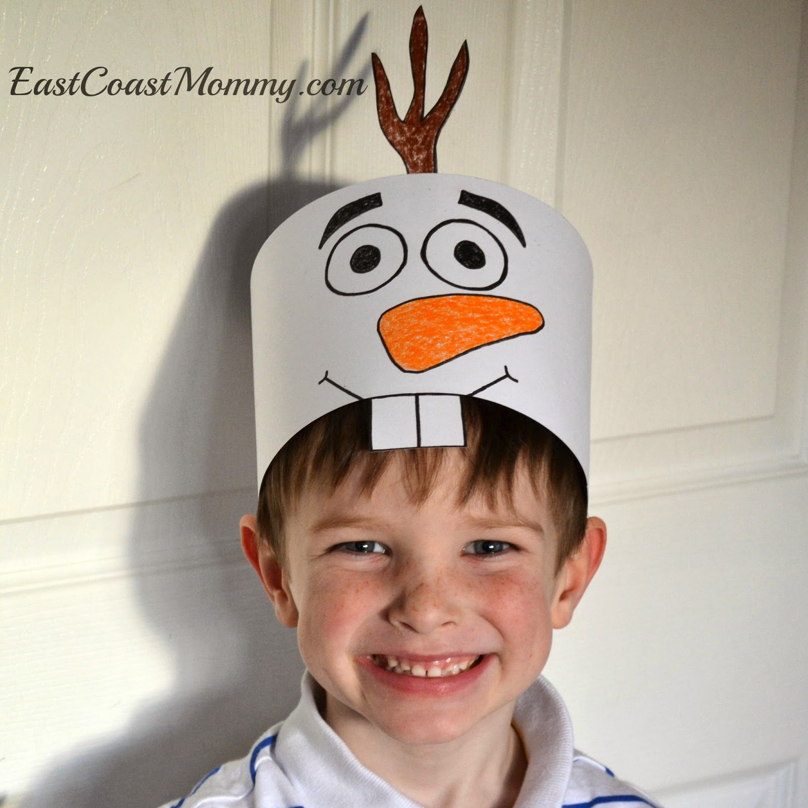 East coast mommy diy olaf costume and if you are looking for an even easier option i designed a cute paper olaf hat template that you can download here solutioingenieria Image collections