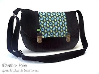 sac velours noir