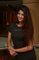 Priya Vadlamani super cute in tight brown dress at Stone Media Films production No 1 movie announcement 064.jpg