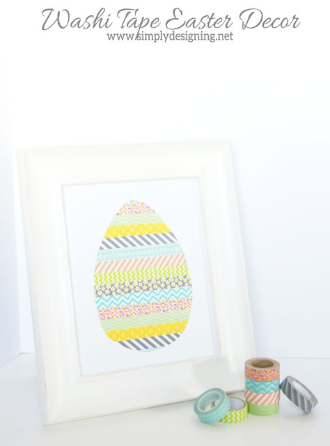Washi tape Easter egg decor. Easy Easter craft!