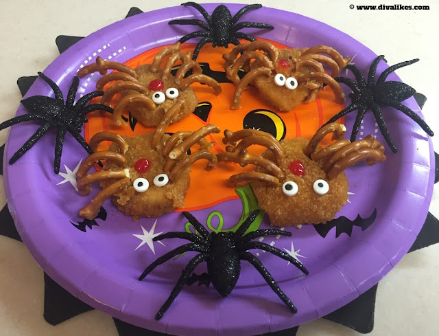 Halloween Spider Chicken Nuggets