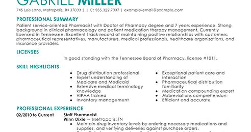 staff pharmacist resume pharmacist resume example pharmacist