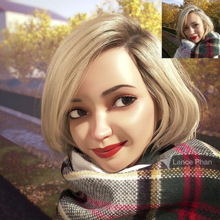 #10 - Artist Turns People Into 3D Pixar-Like Characters And You Can Become One Too