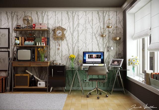 desain wallpaper kantor