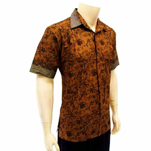 Kemeja Batik Pria Sutra: Kemeja Pria Batik Tulis Solo