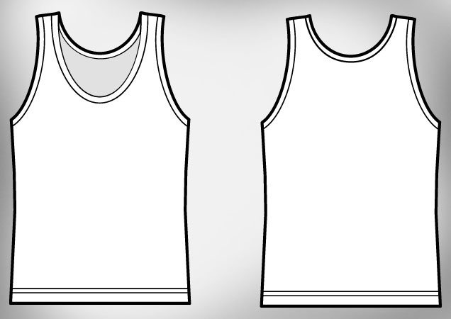Tank Top Template Stock Vector © Rsinha 3017807 Picture