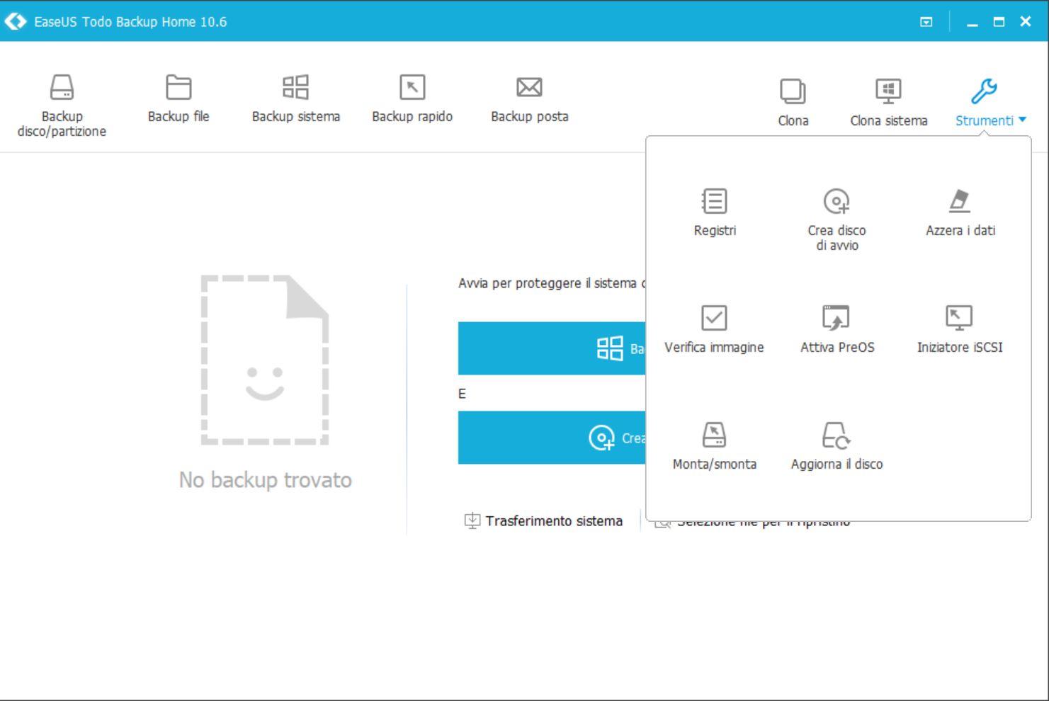 strumenti aggiuntivi di easeus todo backup