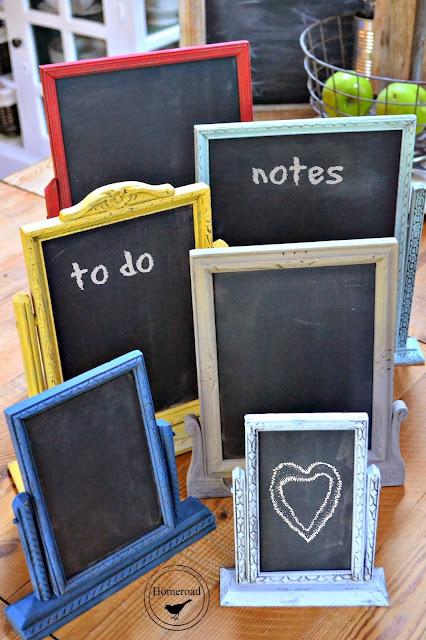 Chalkboards in mini frames
