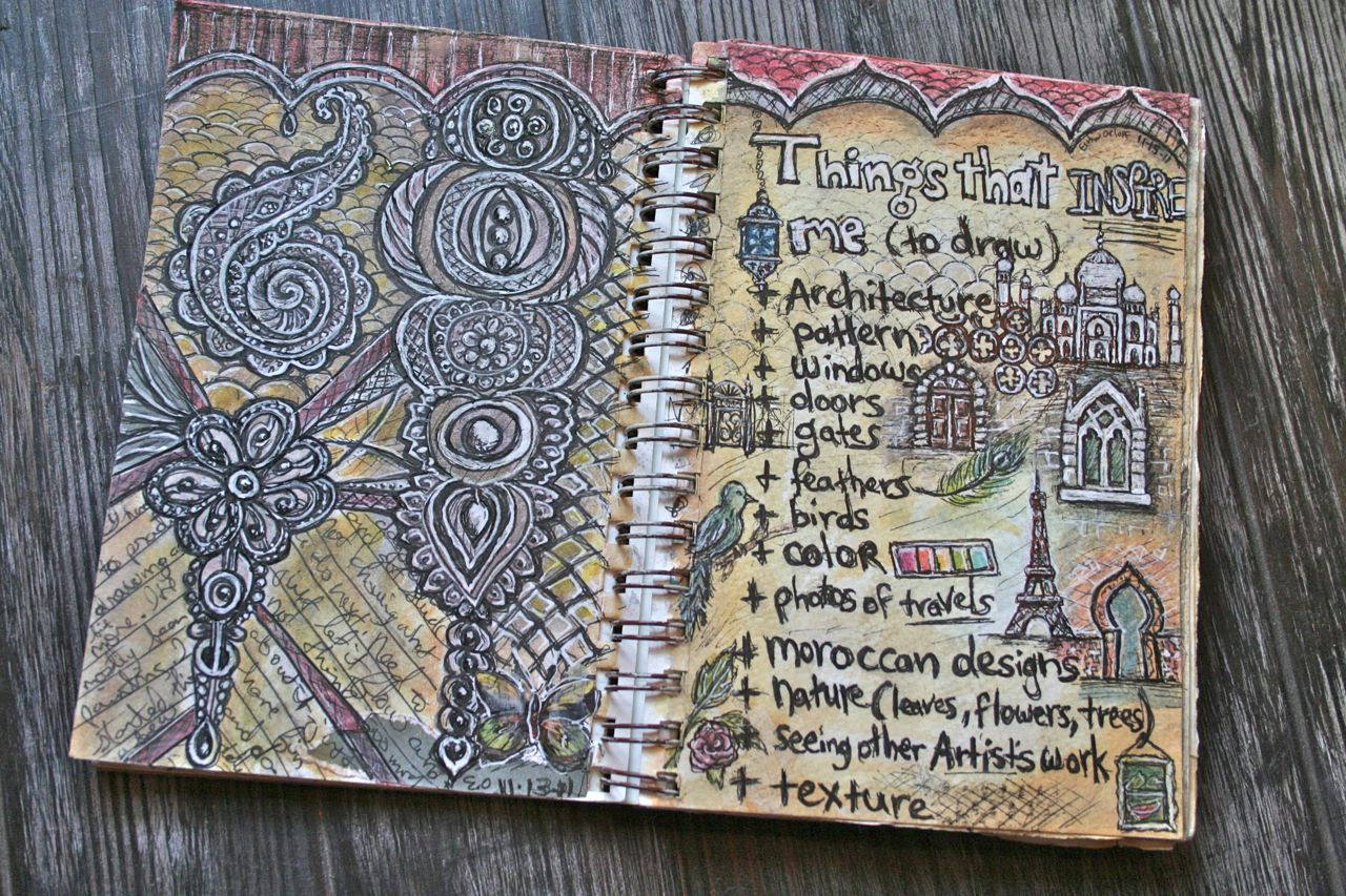 E Makes Art: Journal Pages : Doodles and Inspiring Things