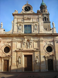 The church of San Giovanni Evangelista in Parma with its beautiful facade