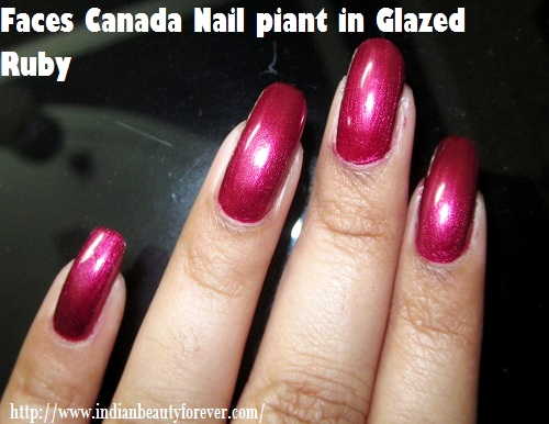 nail paint glazed ruby
