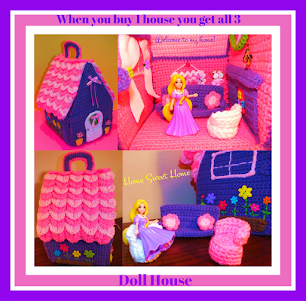 Connies Portable Purple Doll House©Christmas Gingerbread House© Halloween Haunted HousePatterns©