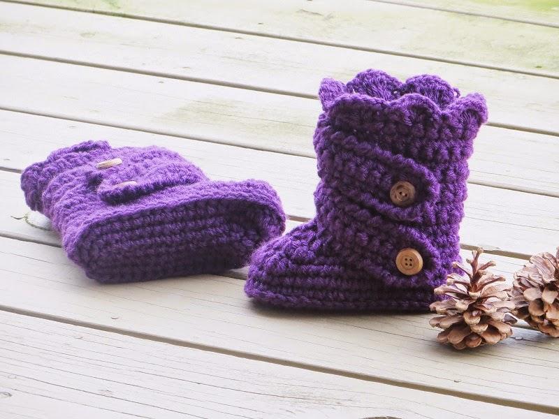 Crochet Dreamz Child S Classic Snow Boots Crochet Pattern