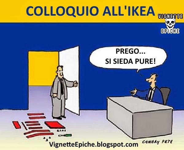 Vignette epiche colloquio all 39 ikea for Ikea immagini divertenti