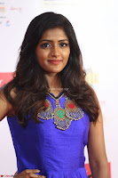 Eesha in Cute Blue Sleevelss Short Frock at Mirchi Music Awards South 2017 ~  Exclusive Celebrities Galleries 014.JPG