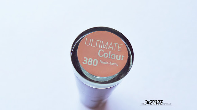 Catrice Ultimate Color 380 Nude-tastic lipstick review nude makeup beauty blog