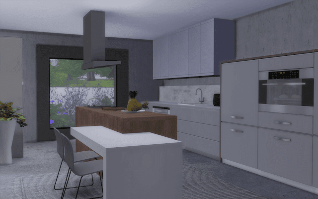 luxe kitchen Sims 4