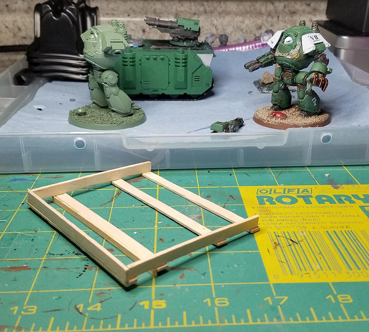 warhammer 40k refit gaming table part 1