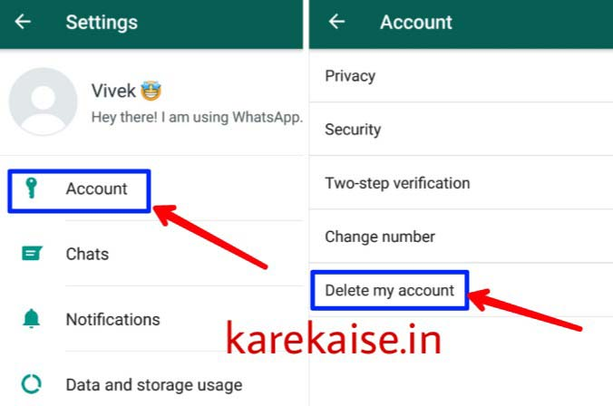 Whatsapp-id-delete-kaise-kare