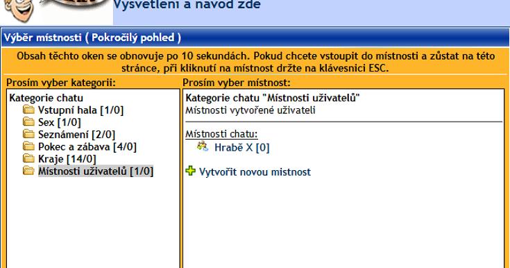 internetové chatovací místnosti