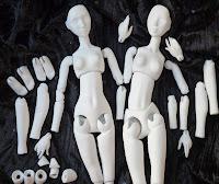 Piezas maestras para moldes de muñecas de porcelana