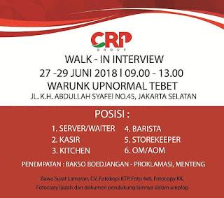 Info Lowongan Kerja di Resto Bakso Boedjang Juni 2018 Jakarta