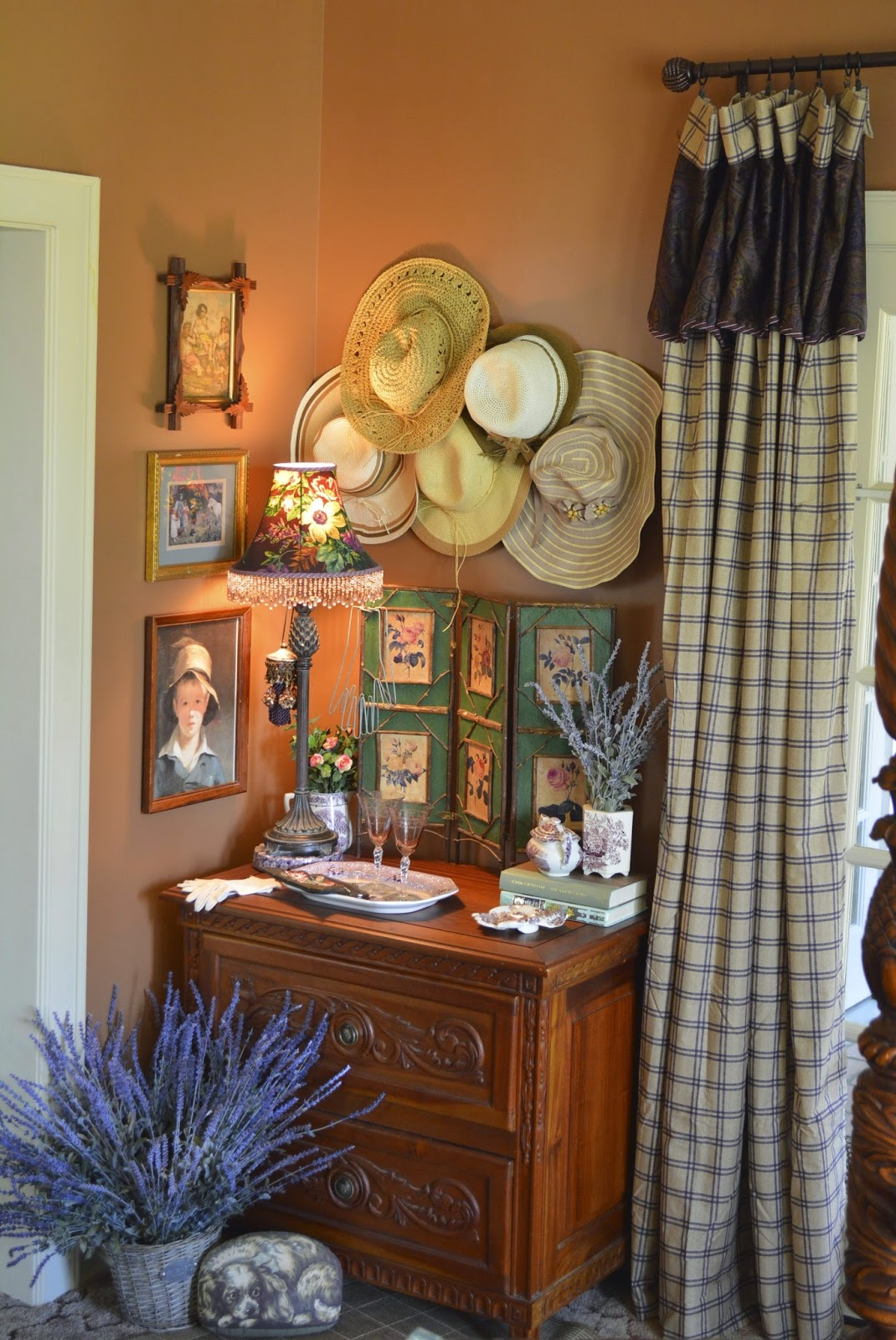 Master Bedroom Details 2 Decorating With Hats Transferware