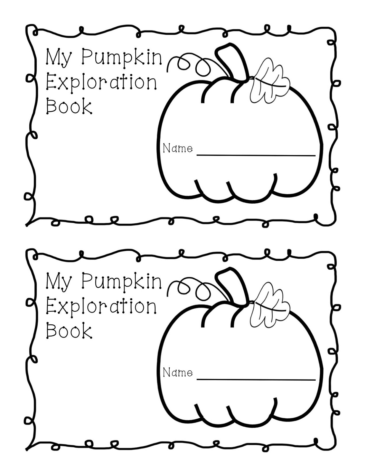 Kinder Learning Garden: Pumpkin Exploration Book Freebie!