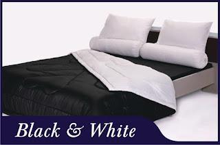 Sprei & Bedcover Shyra Polos - Black & White