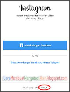 cara membuka instagram yang lupa password dan emailnya