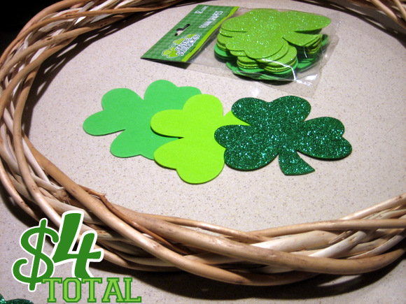 Dollar Store Wreath: A Simple DIY Wreath for St. Patrick's Day | DIY Playbook