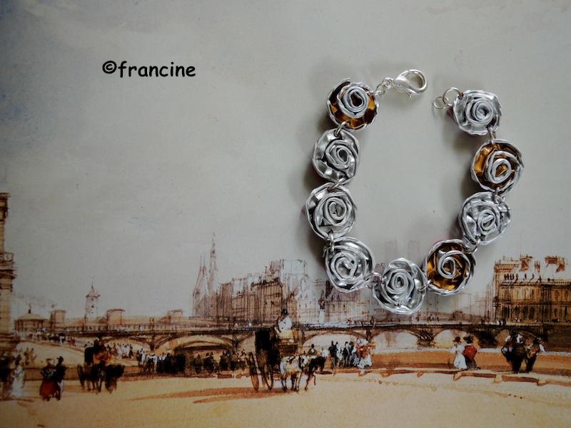 Populaire FRANCINE BRICOLE : Bracelets - boucles d'oreilles et bague  RY12