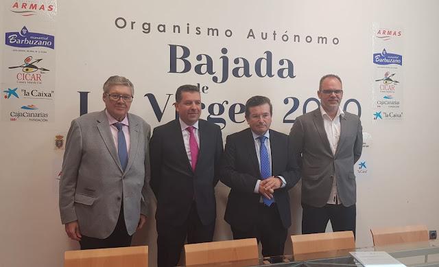 La Fundación CajaCanarias y 'la Caixa' ratifican un lustro más su apoyo a la Bajada
