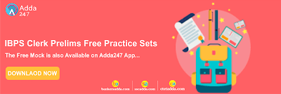IBPS Clerk Prelims Free Practice Set | Download PDF