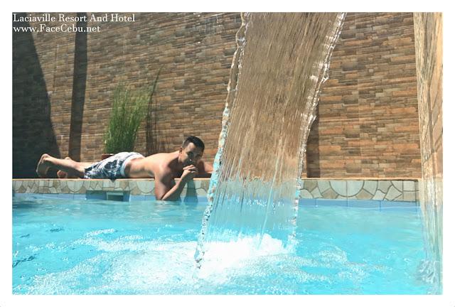 Blogger, Mark Monta at Lobby at Laciaville Resort and Hotel  Pool