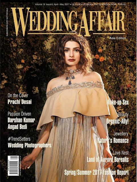 Gorgeous Prachi Desai Sizzles On Wedding Affair Magazine May Cover 2017