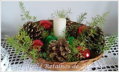Centro de mesa ou arranjo natalino