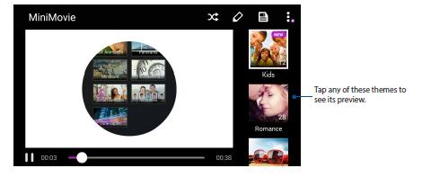 Using MiniMovie