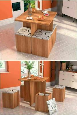 Mesas de centro con taburetes