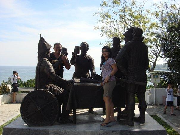 Sandugo blood compact monument in Tagbilaran City Bohol