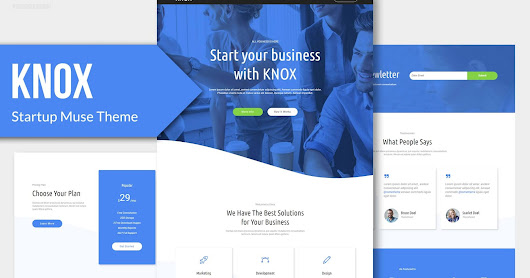 KNOX - Startup, Agency, Apps Muse Theme
