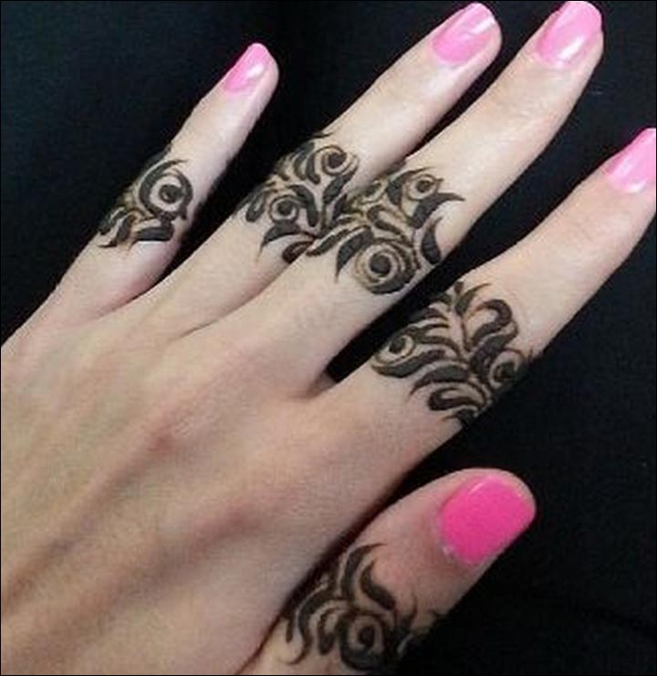 Leaf Ring Mehndi Designs For Fingers